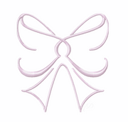 Satin Bow Frame Embroidery Design