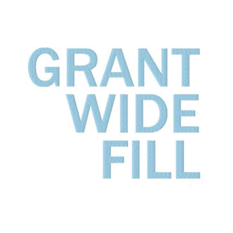 Grant Wide Fill Embroidery Font