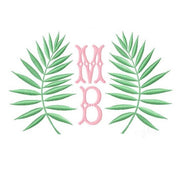 Palm Leaf Embroidery Design
