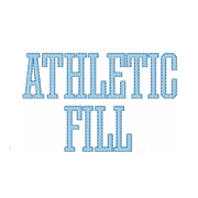 Athletic Fill Embroidery Font