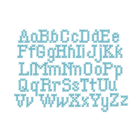 Cross Stitch Satin Embroidery Font