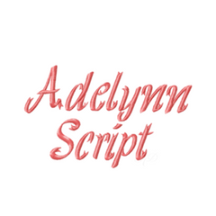 "2"" Adelynn Brooke Ribbon Embroidery Font"