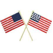Accent American Flags Embroidery Design