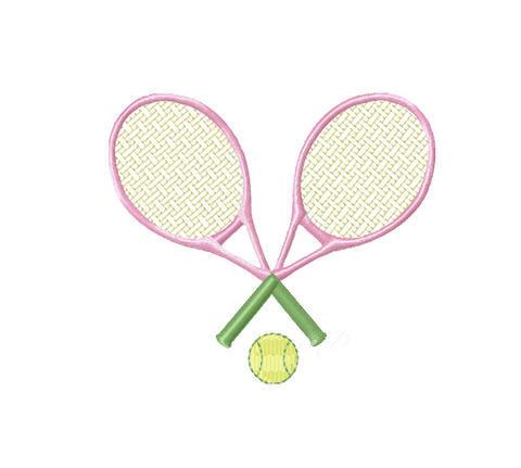 Tennis Embroidery Design Monogram