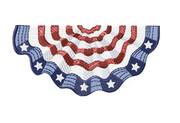 American Flag Bunting Embroidery Design