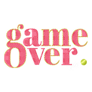 Game Over Embroidery Design