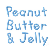 "3/4"" Inch Peanut Butter Jelly Font"