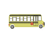 Retro School Bus Embroidery Design
