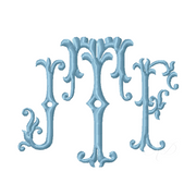 Filigree Scroll Type Embroidery Font 4x4