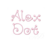 "2"" Alex Dot Embroidery Font"