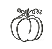 Simple Pumpkin Embroidery Design & PNG SVG