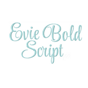 5 sizes Bold Evie Satin Stitch Embroidery Font