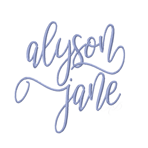 Jane Alyson Modern Bouncey  Embroidery Font Package