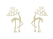 Satin Stitch Deer Antler Embroidery Design
