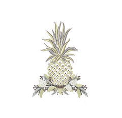 Holiday Traditional Pineapple Embroidery Design