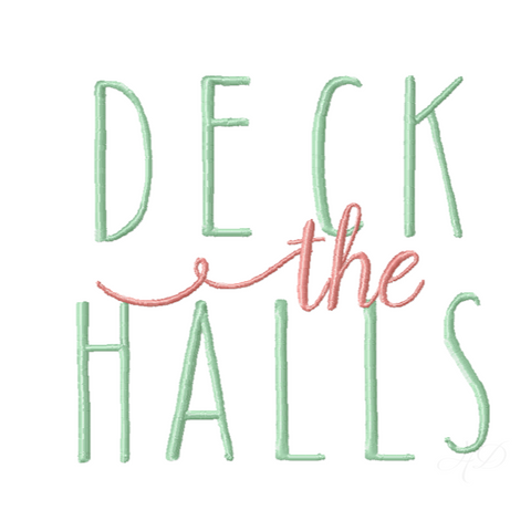 Deck the Halls Christmas Embroidery Design