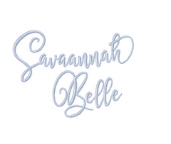 Savannah Belle Embroidery Font Package