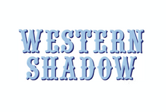 Western Shadow 4X4 Embroidery Font