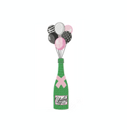 Champagne Bottle with Balloons Embroidery Design