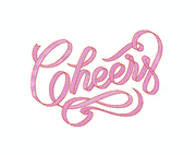 Cheers Ribbon Embroidery Design