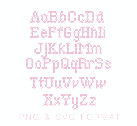 Cross Stitch Type PNG & SVG Format
