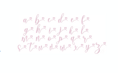 Sweet Marissa Satin Embroidery Font