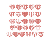 Heart Monogram Fill Embroidery Font