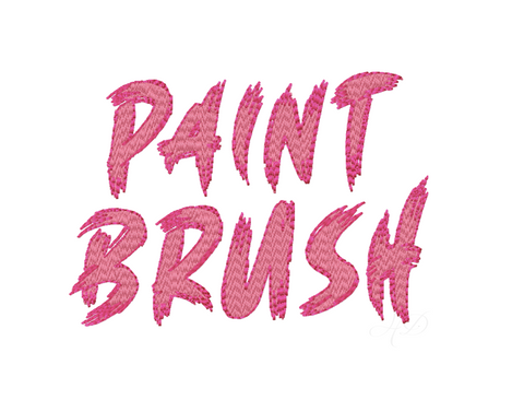 Paint Brush Fill Shadow Type Embroidery Font