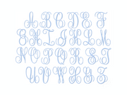 Large 5x7 Kathryn Satin Stitch Hoop Embroidery Font