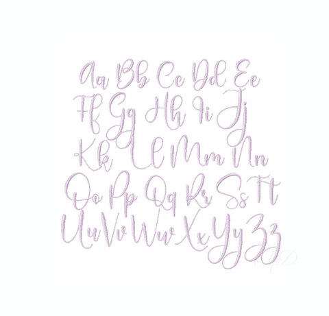 "2"" Emma Beth Bow Satin Embroidery Font"