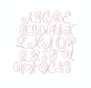 4 sizes Sweet and Simple Monogram Satin Stitch 4x4 Hoop Embroidery Font