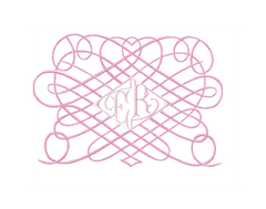 Heart Nouveau Scroll Frame Embroidery Design