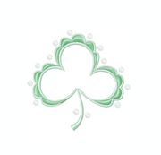 Patisserie Shamrock Satin Embroidery Monogram
