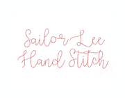 "3/4"" Sailor Lee Raw Hand Stitch Script Embroidery Font"