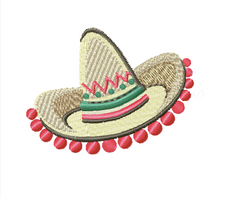 Sombrero Cinco De Mayo Embroidery Design