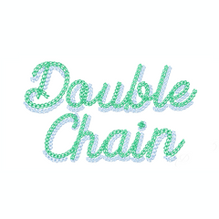 4x4 Double Chain Stitch Shadow Script Embroidery Font