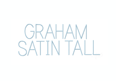 Large Graham Satin Embroidery Font Package