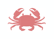 Crab Fill Embroidery Design