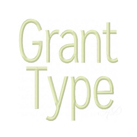 Grant Satin Embroidery Font