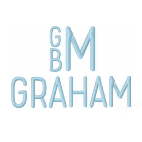 Graham Satin Embroidery Font