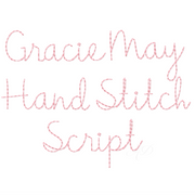 Gracie May Embroidery Font Package