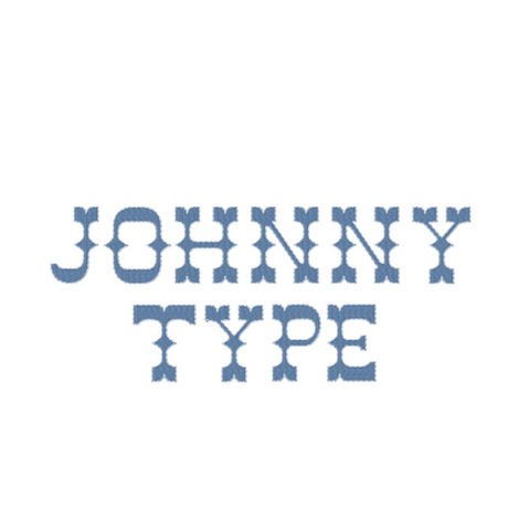 Johnny Two Tone Western Embroidery Font Package