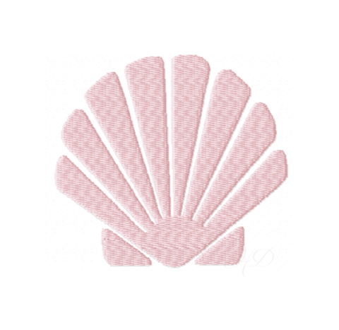 Vintage Brass Sea Shell Clam Embroidery Design