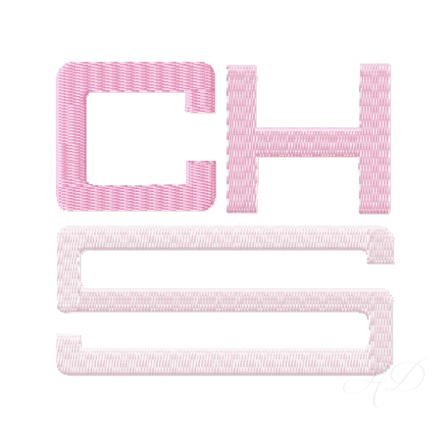 Fill Square Embroidery Font
