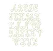 Libby Open Satin Embroidery Font