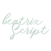 Beatrix Embroidery Font