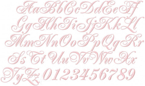 Helen Virginia Embroidery Font