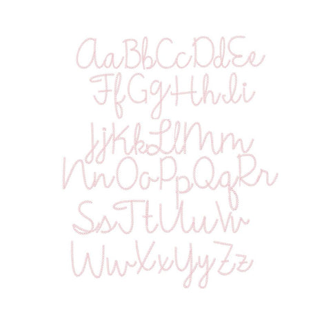 Gracie May Chain Stitch Embroidery Font Package