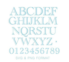 Ryan Open PNG & SVG Cricut Monogram Font