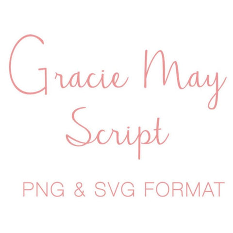 Gracie May SVG PNG Monogram Font